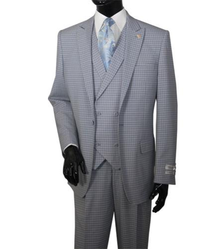 Mens Grey Mini Plaid