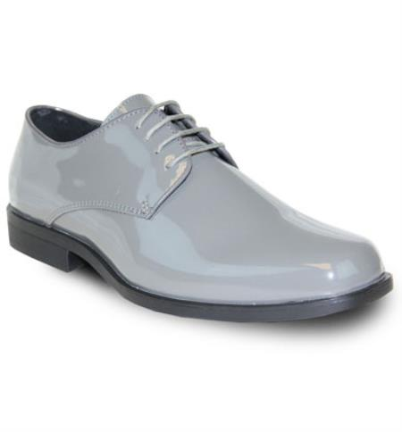 Mens Sarno Lace Up Vangelo Tuxedo Mens Shoe For Men Perfect for Wedding Grey Tuxedo Shoes