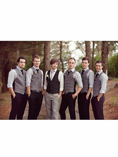 Men's  Matching Grey ~ Gray Dress Tuxedo Wedding Men's Vest ~ Waistcoat ~ Waist coat Black Pants Set