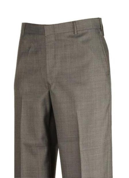 Clothing Dress Pants Sharkskin Grey unhemmed unfinished bottom