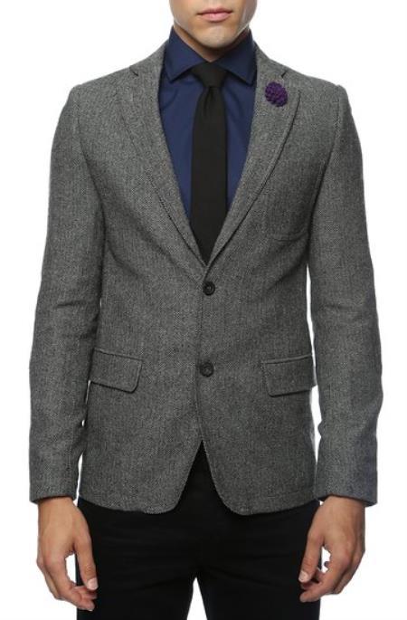 Slim Fit Tweed houndstooth