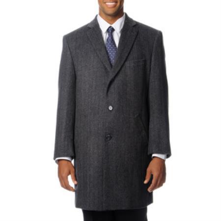 Pronto Moda Mens Dress Coat Car Coat Ram Grey Cashmere Blend Top Coat