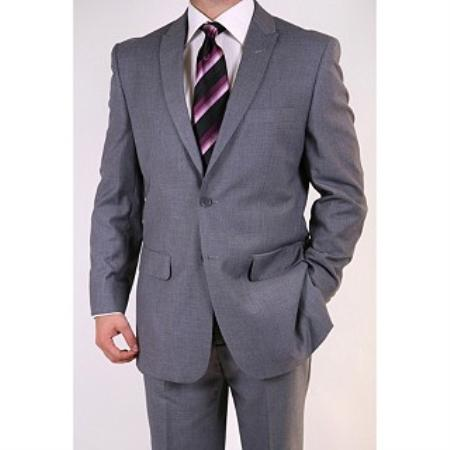 FJ7829 Men's Grey Two-button Peak Lapel Suit