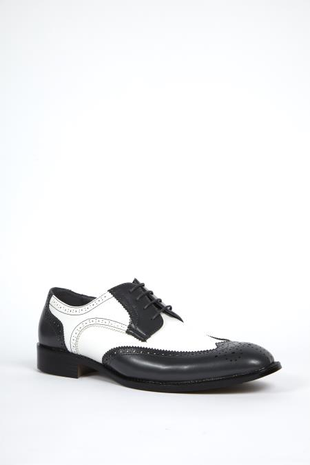 Grey White Dress Shoes