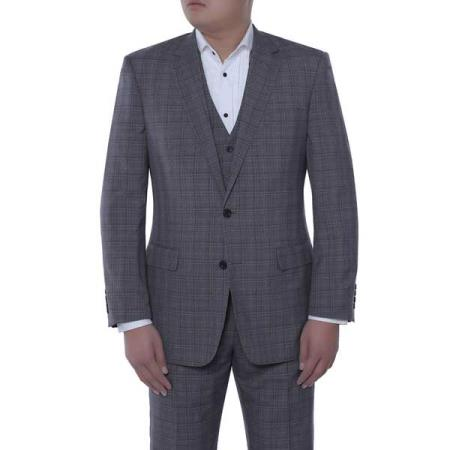 3-piece Suit Giovanni Grey