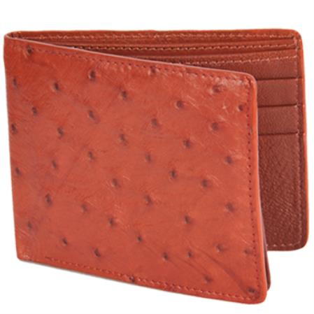 Mens Genuine Exotic Animal Skin Carteras Avestruz Mens Wallet – Miel