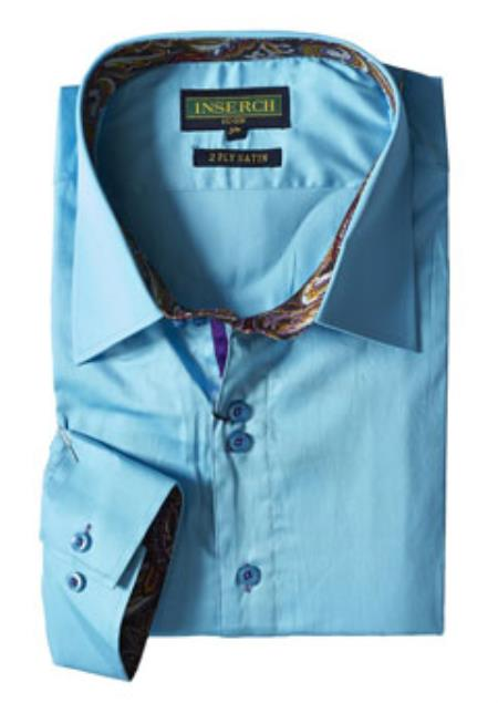 Mens Ice Blue Cotton