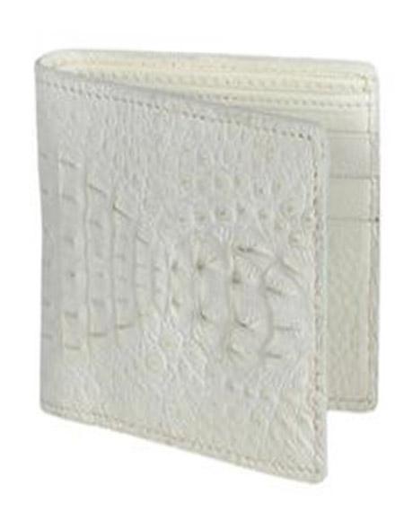 Wild West Boots Wallet-Cream ~ Ivory ~ Off White Genuine Exotic caiman ~ World Best Alligator ~ Gator Skin
