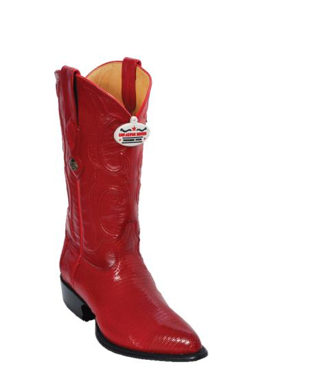 Buy E567 Los Altos Red Ring Lizard J-Toe Cowboy Boots