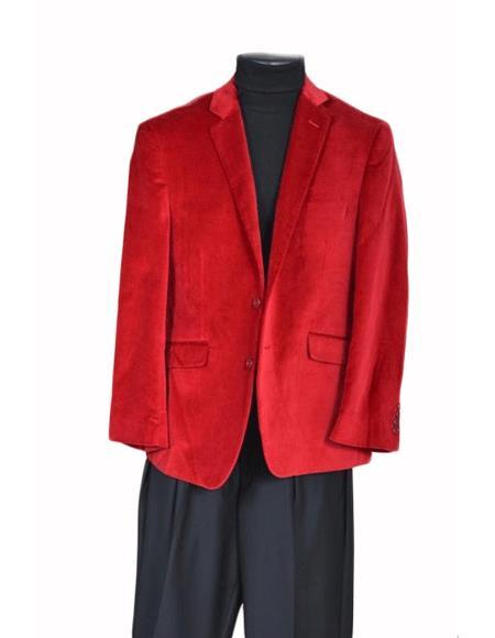 Men's Jacket Sport Coat- Red