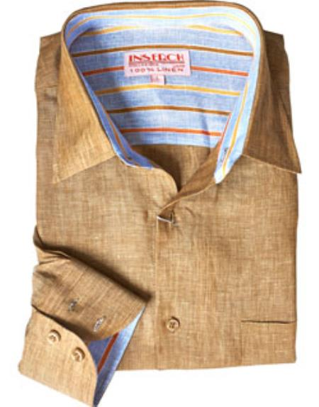 Linen Mens Dress Shirt