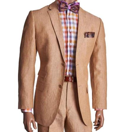 2 Piece Khaki Linen