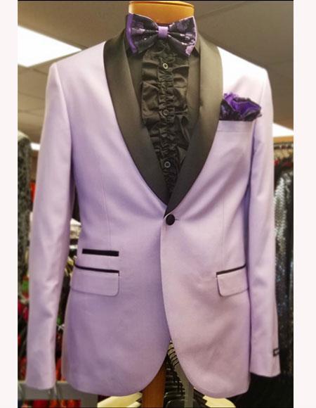 Men's Lavender ~ Lilact  Shawl Suit Vested 3 Pieces