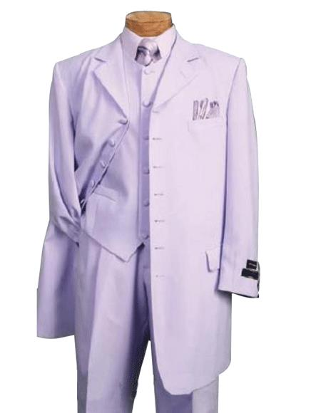 Lavender SUIT 3PC FASHION ZOOT WITH VEST Cover Buttons Comes
