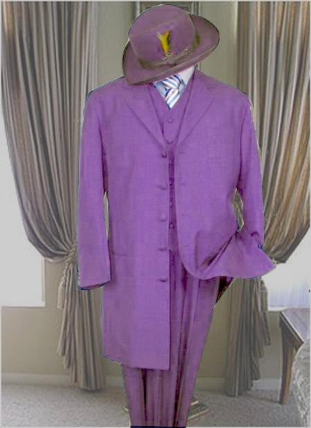 Classic Long Lavender Fashion Zoot Suit (Pre order Available to ship December/1/2019)