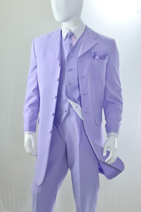 Mens Lavender 3 Piece Reverse Vest Zoot Cheap Priced Business Suits Clearance Sale (Pre order Available to ship December/1/2019)