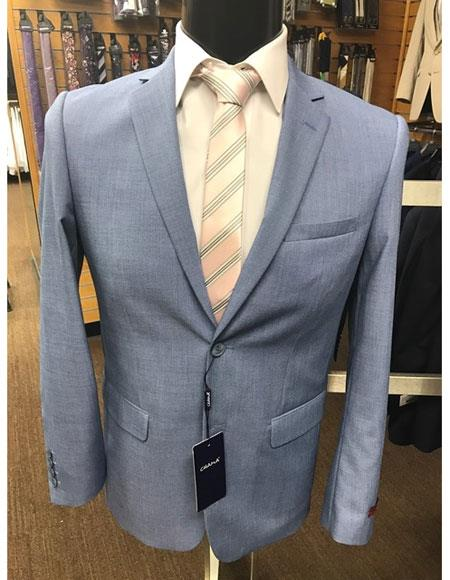 Men's Baby ~ Ocean ~ Light blue 2 button Suit (Business / Wedding Looking)