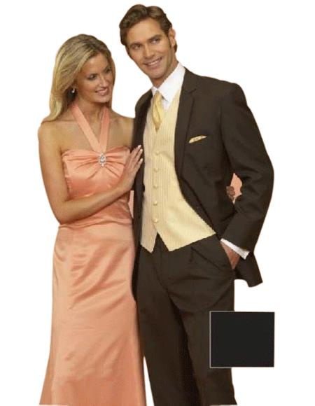 Light Weight Two Button CoCo Brown Notch Wedding 2 Piece Suits For Men As seen IN Bridal Magazin