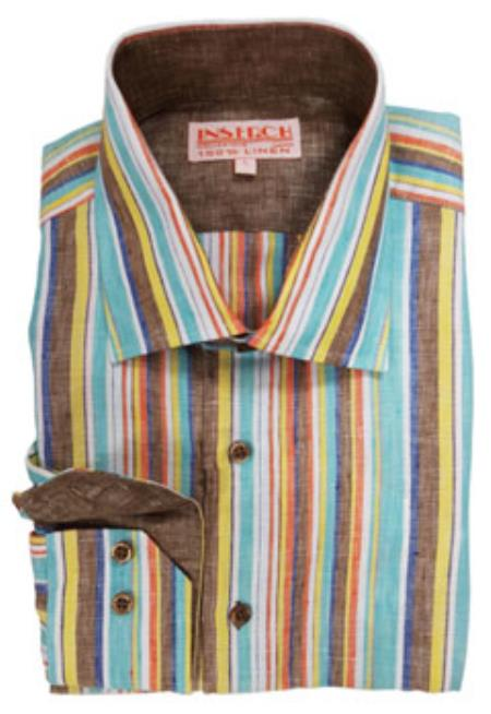 Stripe Mens Dress Shirt