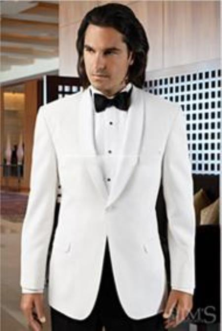 Big and Tall or Extra Long Tuxedo Mirage No-Buttons Wedding / Prom Formalwear Mandarin Tuxedo Jacket