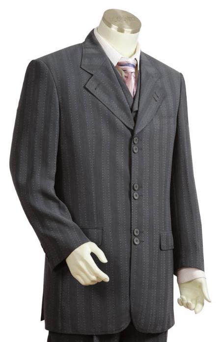 SKU#TV5241 Mens Long Zoot Suits in Dark Gray