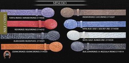Menudo Mens Cowboy Belt 1.5