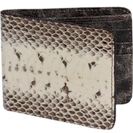 Men's Genuine Exotic Animal Skin Cartera Vivora de Agua Men's Wallet -Natural