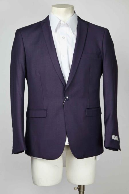 Navy Peak Lapel One