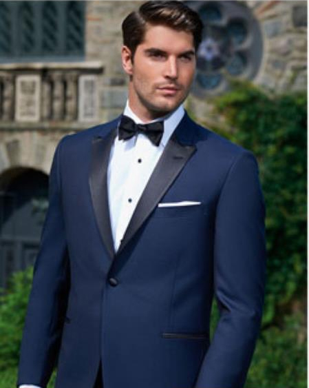 Evening Peak Navy 1-Button Tuxedo Ike Evening by Ike Behar Tuxedo Authentic Brand
