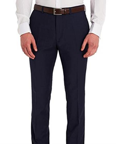 Mens Slim Fit Dark Navy Blue Suit For Men Flat Front Washable Dress Pants (We have more Braveman suits Call 1-844-650-3963 to order)