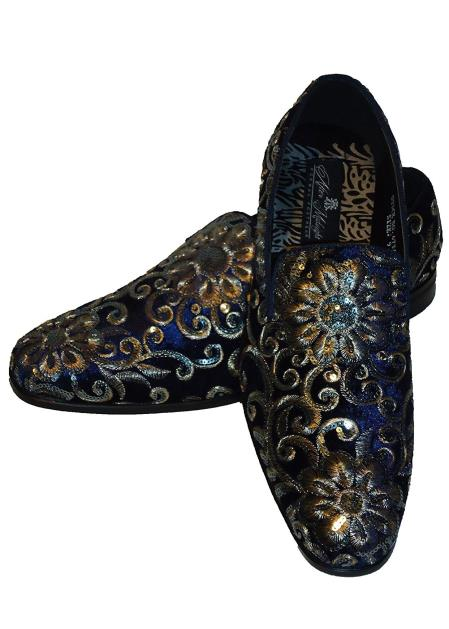 Men's Carrucci Sequin Patterns Hand