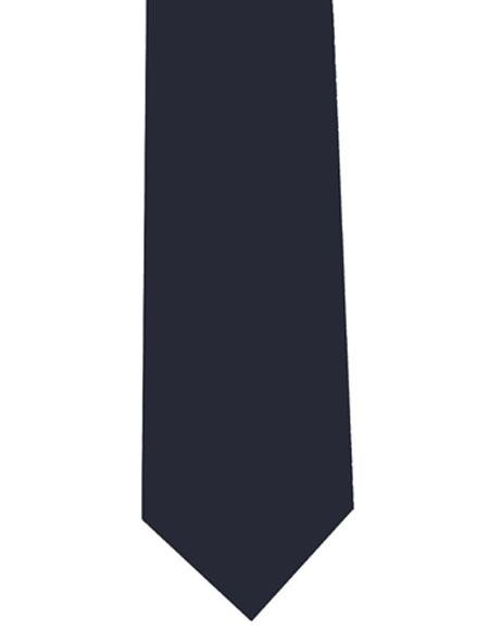 Men's Polyester Extra Long Navy Blue Neck Tie
