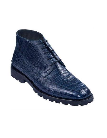 High Top Gator Skin Shoe –Navy Blue