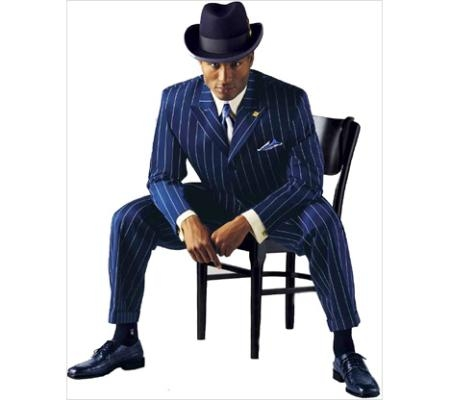 SKU# FZTV19 Mens Navy Blue Vested Fashion Zoot Suit  $139
