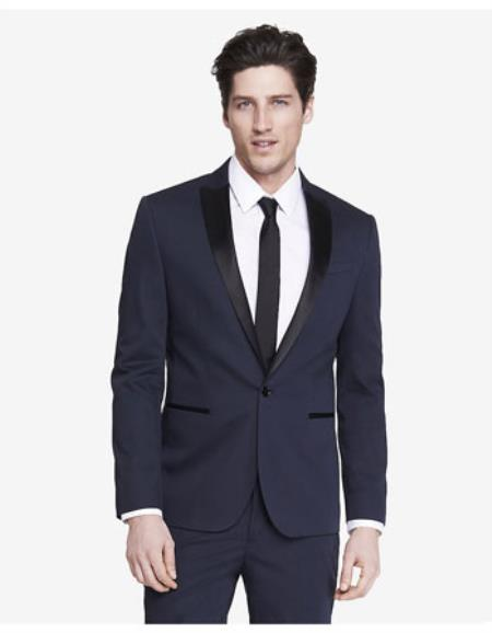 Slim Photographer Color Block Tuxedo Jacket