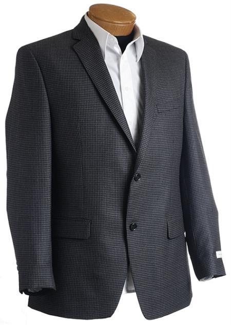 Mens Designer Navy Tweed houndstooth checkered Sports Jacket