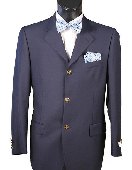 Men's Navy Designer Fashion Dress Casual Blazer