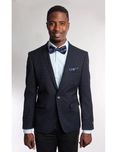 Mens Fashion Stage Blazer ~ Sport coat Navy