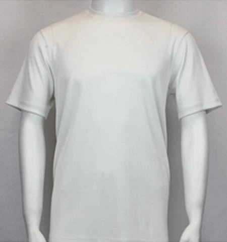 Men's Classy Mock Neck Shiny Off White Short Sleeve Stylish Shirt
