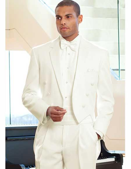 Ivory ~ Cream ~ Off White Tailcoat Tuxedo For Men Tuxedo Jacket with the tail suit tuxedo with tails