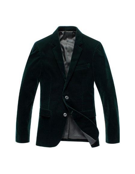 Alberto Nardoni Brand Men's Olive Green Velvet Men's blazer Jacket