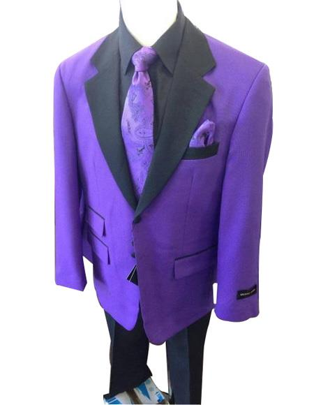 Mens Purple Ticket Pocket   Long Sleeve Jacket