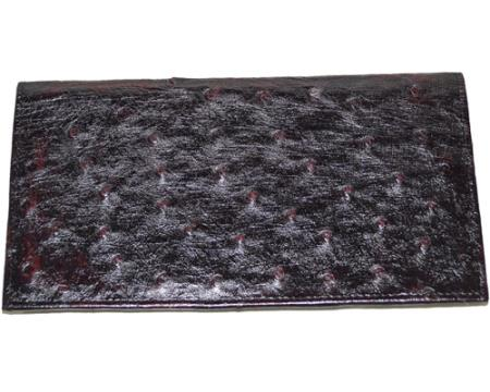 Buy ECD8 Wallet ~ billetera ~ CARTERAS Large Ostrich Wallet Black Cherry