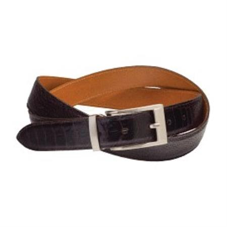 Ostrich Leg Belt Available in Black, Brown, Caramel & Sand Colors