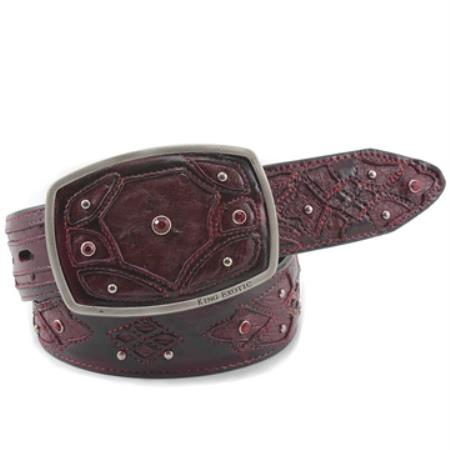 Exotic Burgundy Belt Genuine