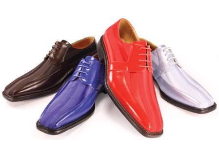 SKU#TY2924 Oxfords Satin Bike Toe Lace Shoes Availble in Royal Blue & Red