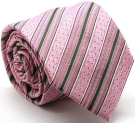 Mens Premium Dotted Ties Pink
