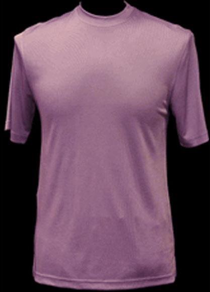Men's Classy Mock Neck Shiny Pink Short Sleeve Stylish Shirt