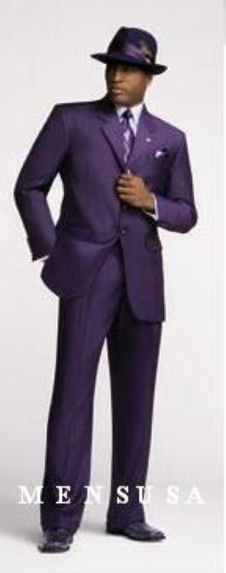 Beautiful Mens Dark Purple Fashion Dress With Nice Cut Sm