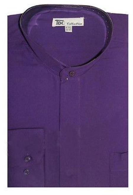 Men's Dress Shirt With Mandarin